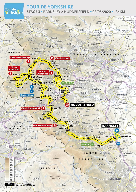 Routes For 2020 Tour De Yorkshire Announced Tour De Yorkshire 30 April 3 May 2020