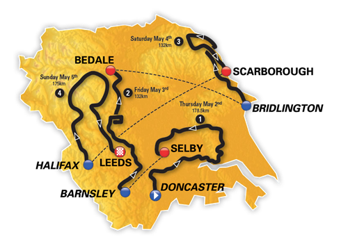 Tour De Yorkshire Map Tour de Yorkshire 2019 routes announced in Leeds | Tour de