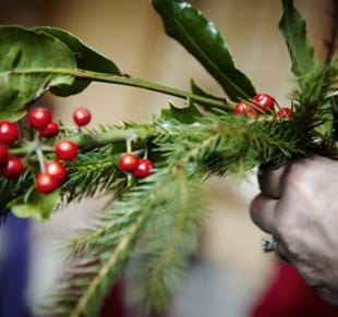 Christmas floristry workshops
