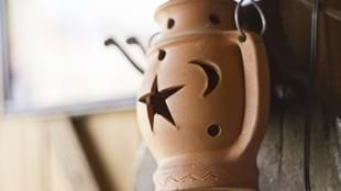Have A Dabble: Clay Lantern Candle Holders
