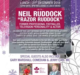 Sportsman's Lunch Friday 21st December 2018