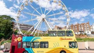 Beachcomber Red Seafront Open Top Bus
