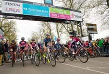 SPORTING SUPERSTAR RECCIES THE TOUR DE YORKSHIRE RACE ROUTE