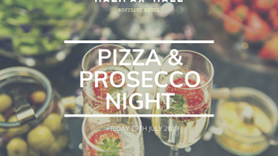 Halifax Hall Pizza & Prosecco Evening