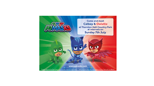 PJ Masks Visit to Thornton Hall Country Park