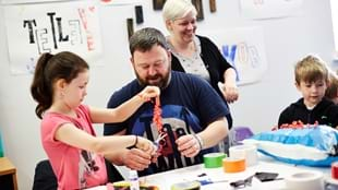 Family Art Workshop: Clay Mandalas and Portraits