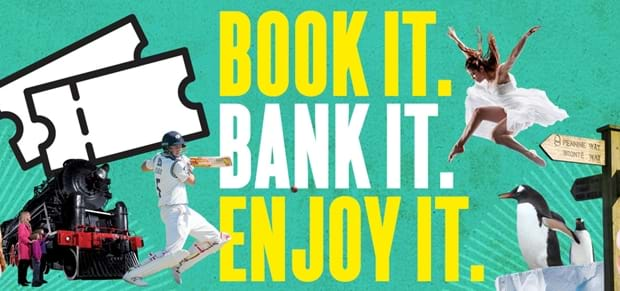 Book it. Bank it. Enjoy it later