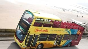 Beachcomber Green Open Top Bus