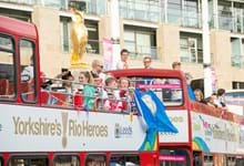 Triumphant Yorkshire 'Rio Heroes' given homecoming reception to remember in Leeds