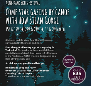 Star Gazing by Canoe with How Stean Gorge