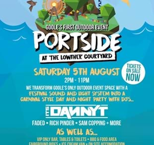 HUGE OUTDOOR EVENT – PORTSIDE at The Lowther Courtyard