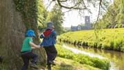 Egg rolling competition at Fountains Abbey