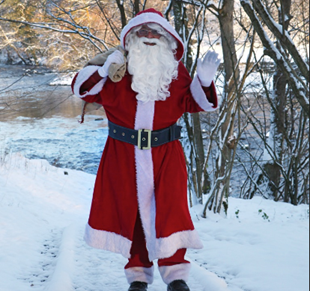 Father Christmas at Bolton Abbey
